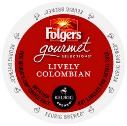 Folgers Gourmet Lively Colombian K-Cup 24ct