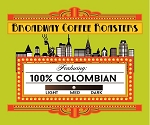 Broadway Coffee Roasters 100% Colombian Pods 18ct