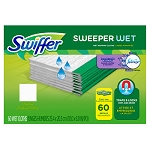 Swiffer® Sweeper System Wet Refill Cloths, 60 ct